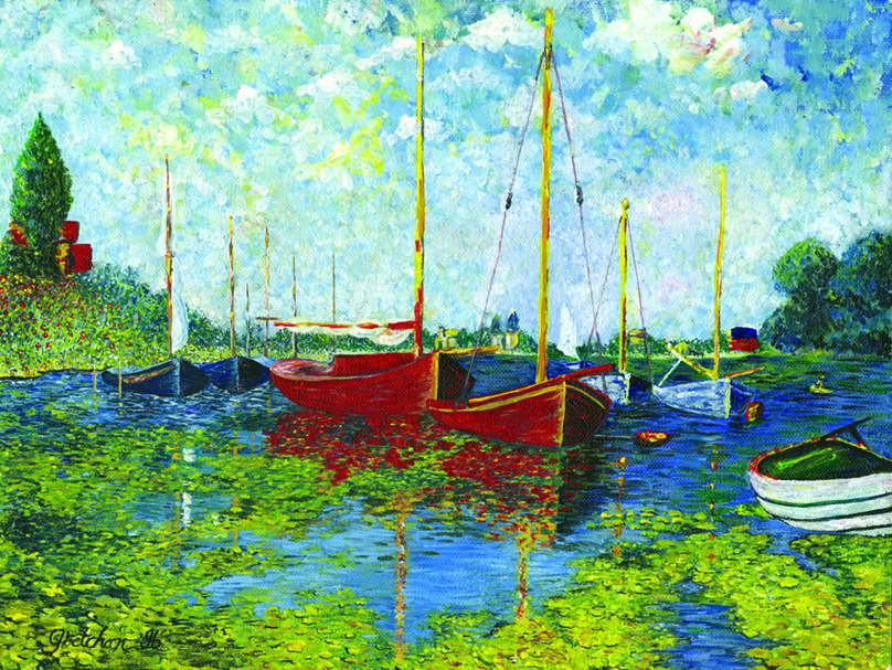 Monet Boats by Gretchan Pyne